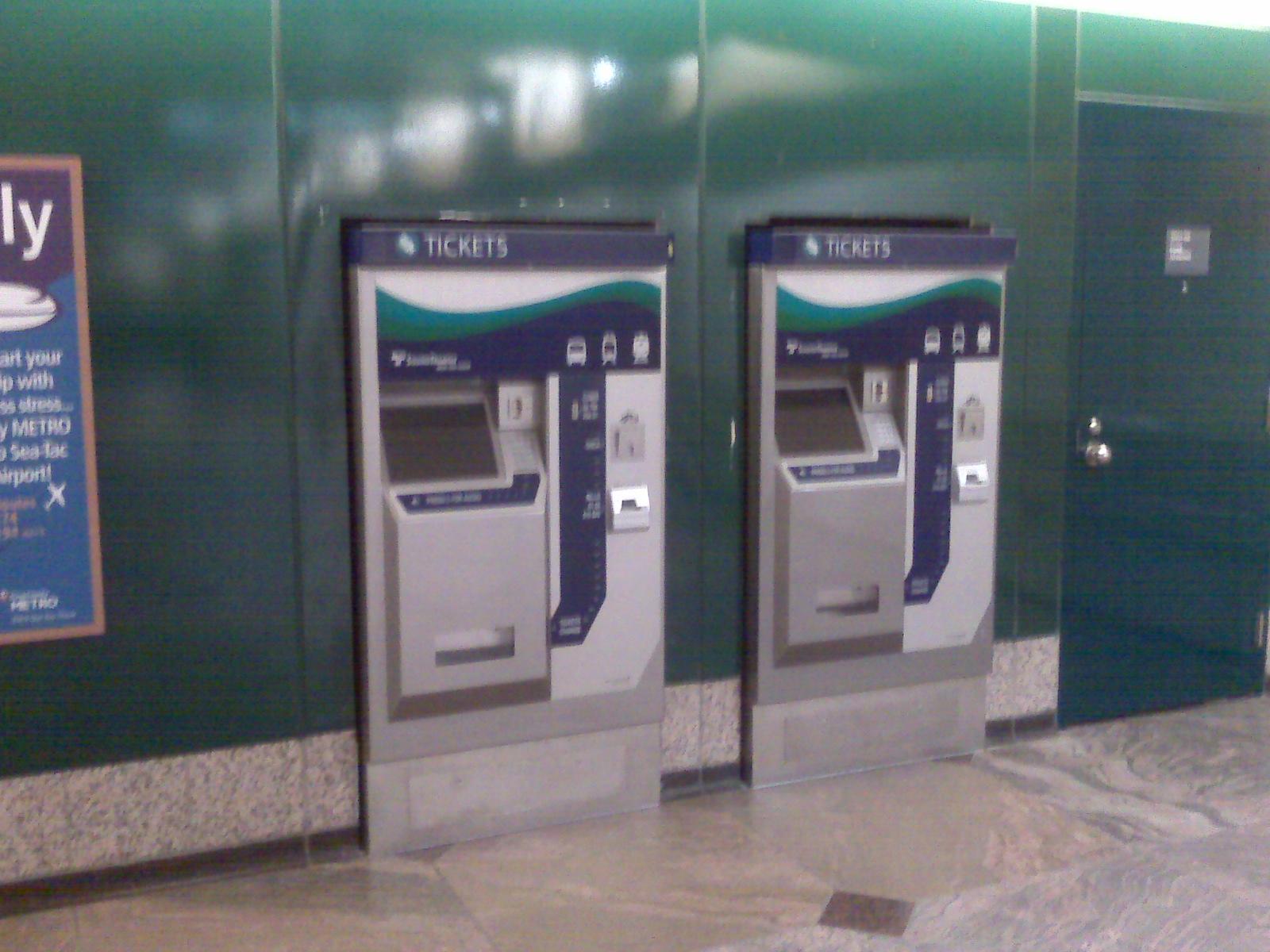 Ticket Vending Machine in Westlake Station