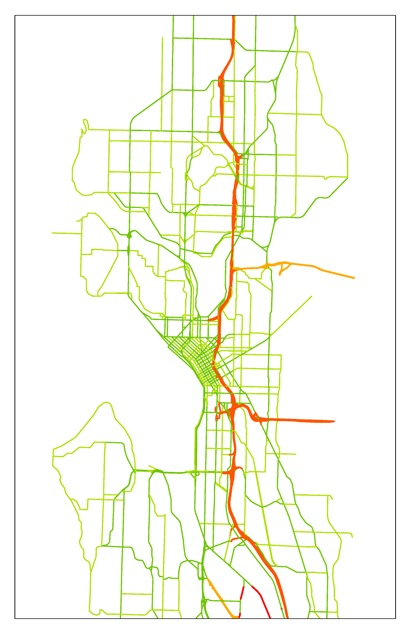 Interstates, State Routes, Primary and Seconday Arterials