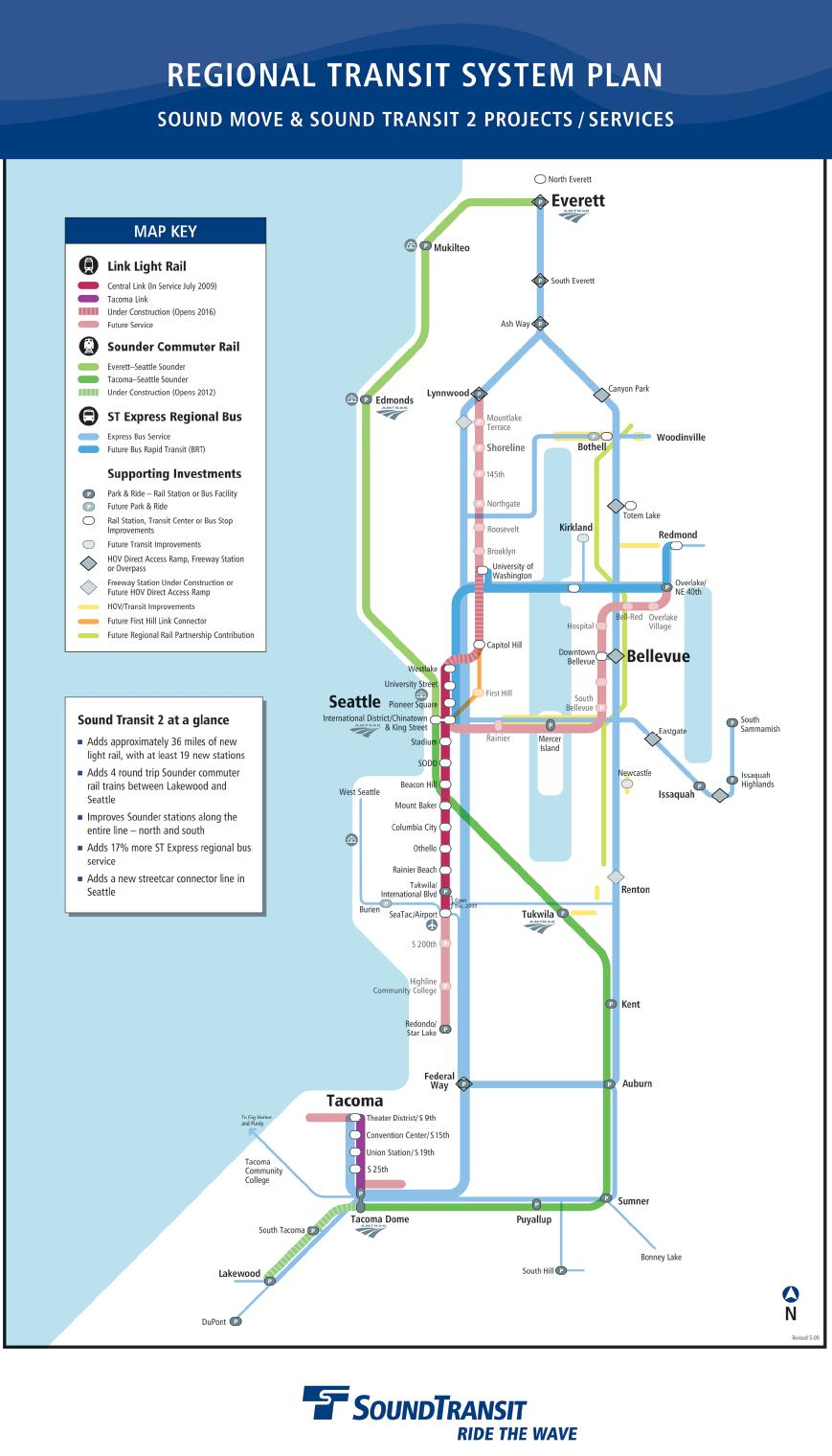 new sound transit regional map