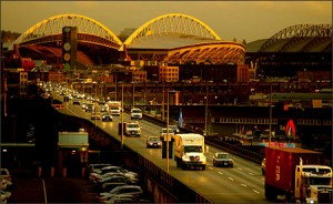 Viaduct photo from the Seattle P-I