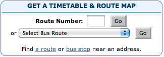 Improved Get a Timetable with choices and link to route finder