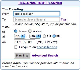 Slightly improved trip planner