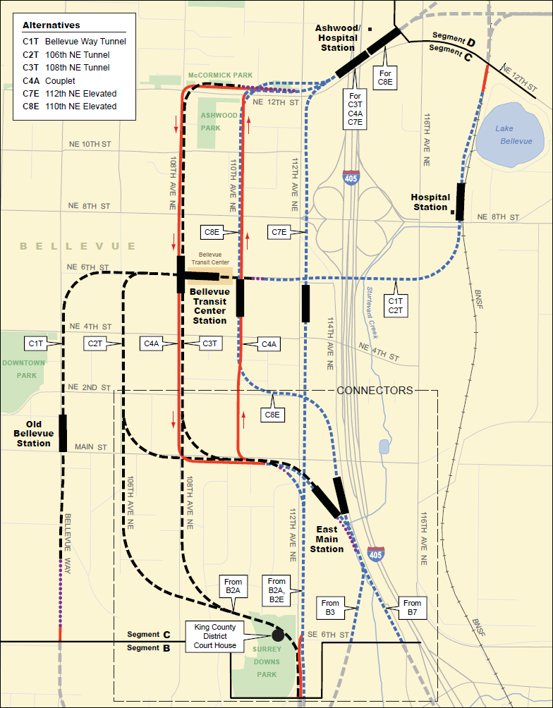 DEIS Alternatives from Sound Transit