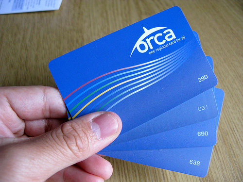 Four ORCA cards. Photo by Oran.