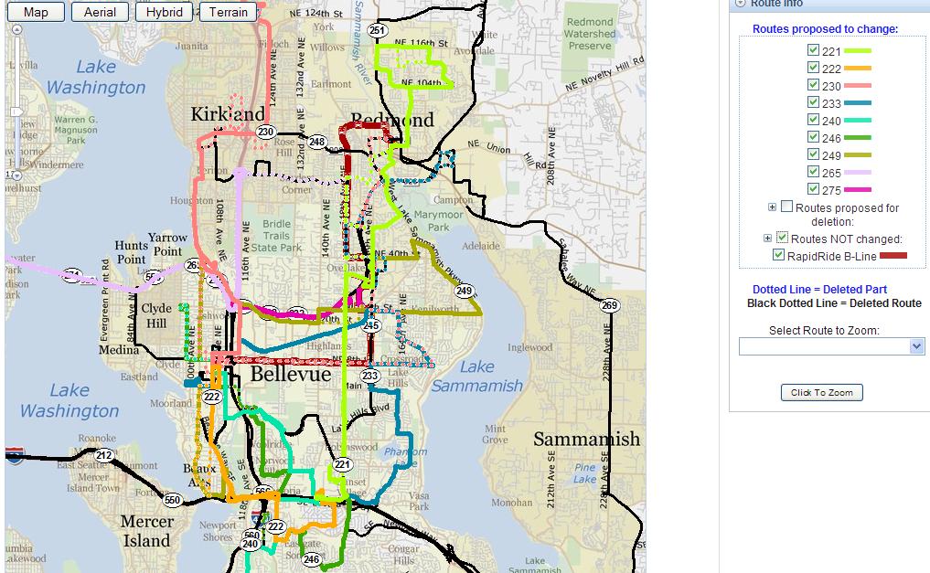 Metro To Reorganize Eastside Service
