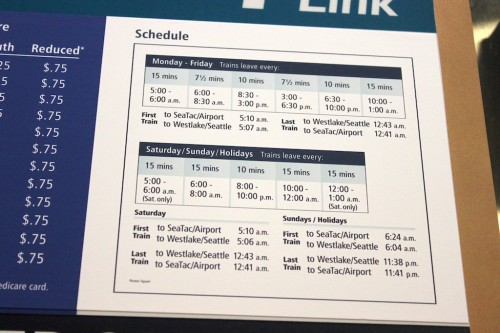 Image Result For Seattle Sound Transit Train Schedule