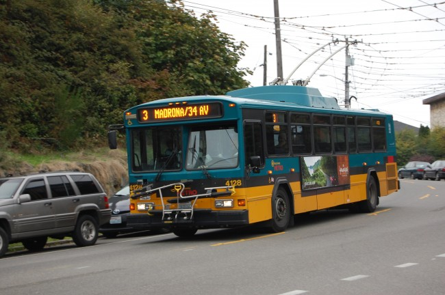 King County Metro 3 in East Queen Anne