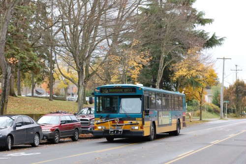 King County Metro 55 in the Admiral District