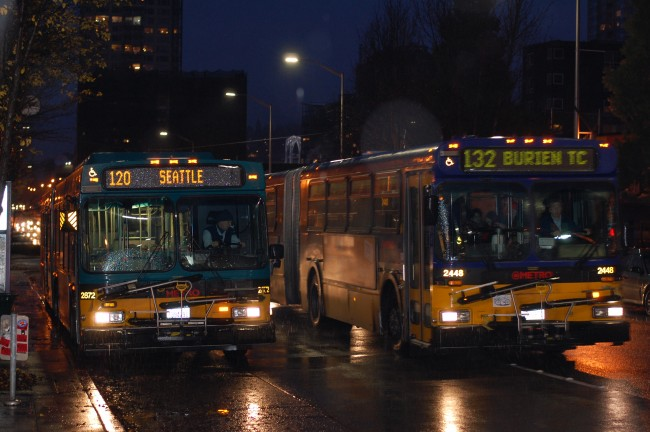King County Metro 120 and 132 in Belltown