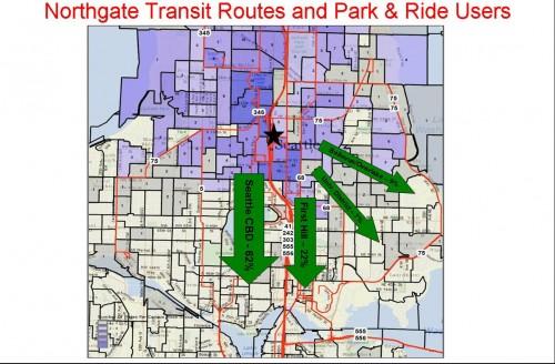 Northgate P&R Origins and Destinations