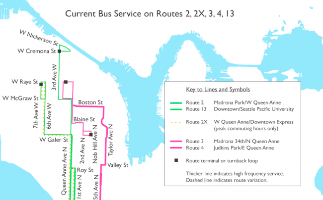 Current Queen Anne Service Map