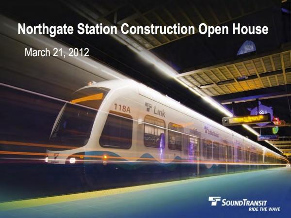 Northgate Construction Open House Presentation