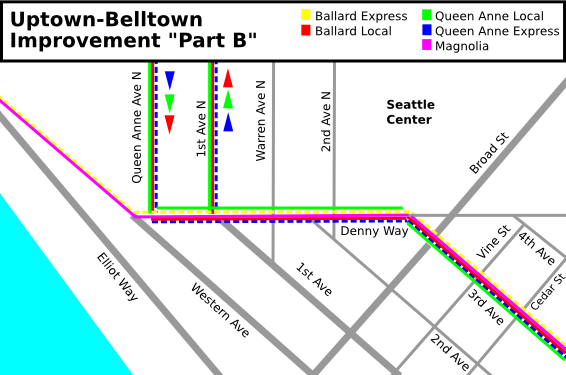"Uptown-Belltown: SDOT Improvement ""Part B"""