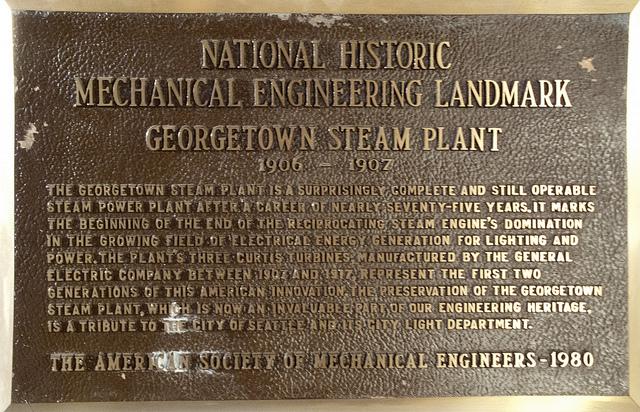 Georgetown Steam Plant Placard (Wikipedia)