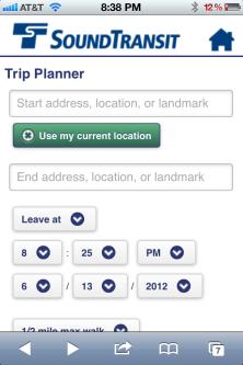 Sound Transit Trip Planner