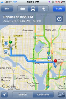 iPhone Transit Map