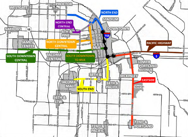 Greater Seattle LRT Map