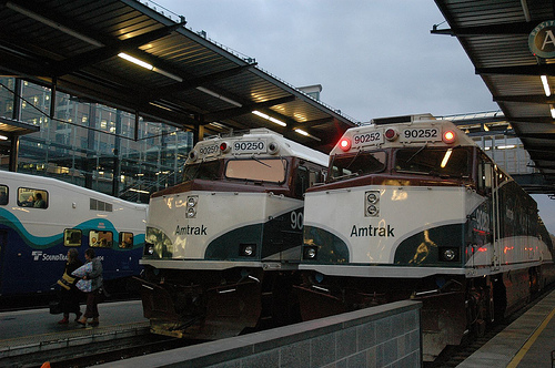 Amtrak Cascades at Rest in Seattle by mrbula on Flickr