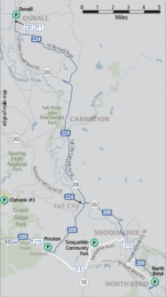 Snoqualmie Valley Fixed Route Service Map
