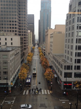 3rd Avenue Looking South from Macy's Footbridge (photo by the author)