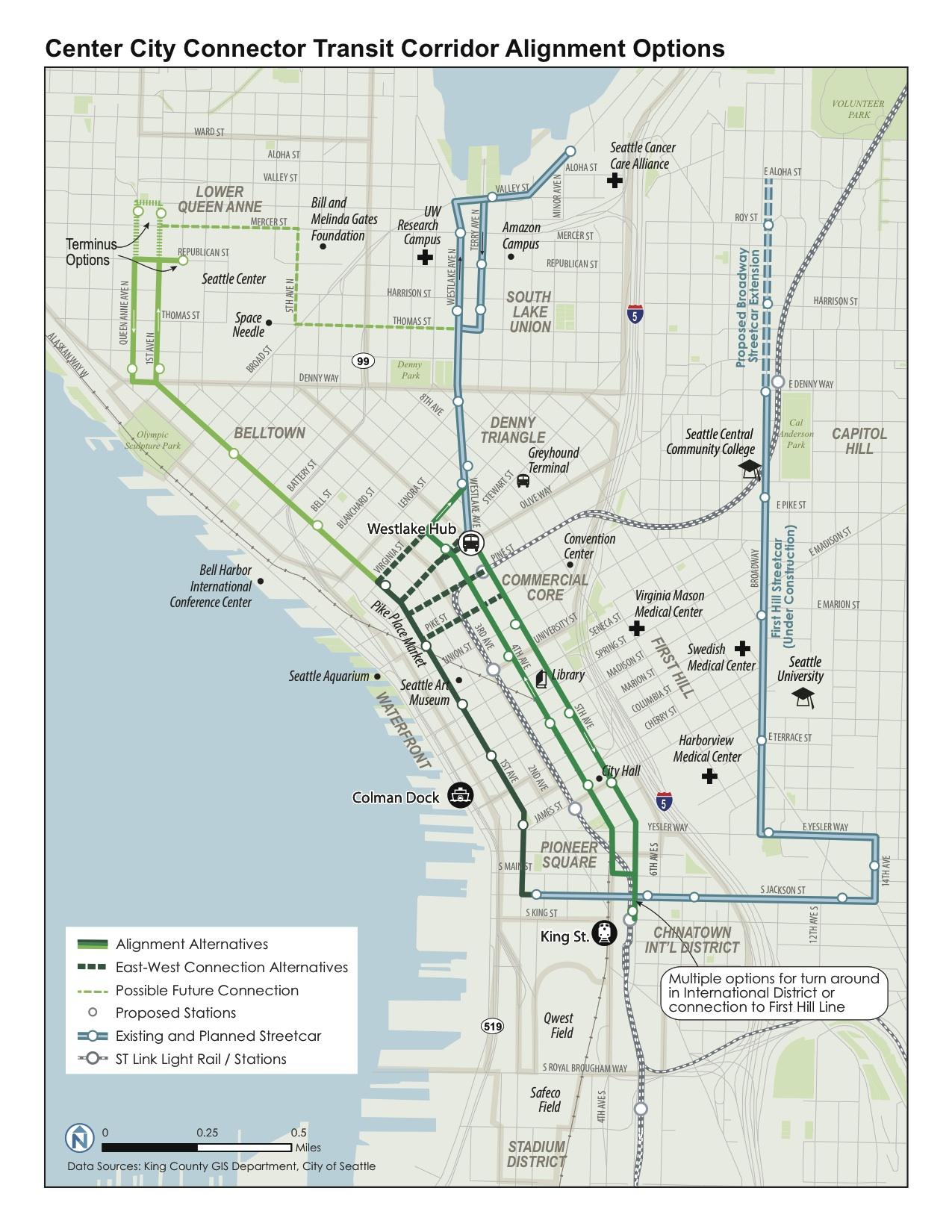 City Center Corridors Alignment Options V3