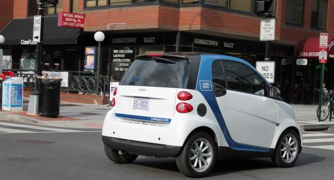 Car2Go in DC. Photo by Flikr user Elvert Barnes.