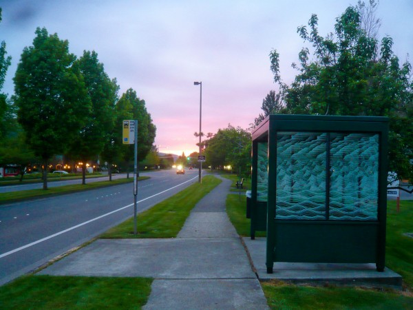 Bus Stop Sunset