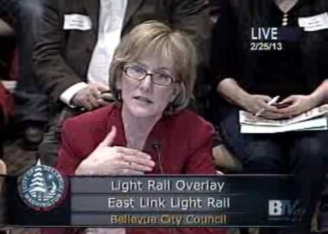 Joni Earl at Monday's Bellevue city council meeting (click for video)