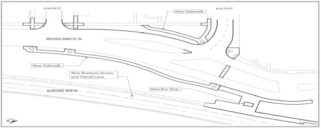 Aurora & 65th improvements diagram