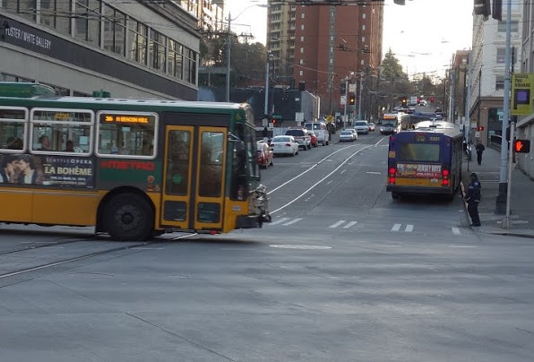 Routes 36  and 70 in Pioneer Square