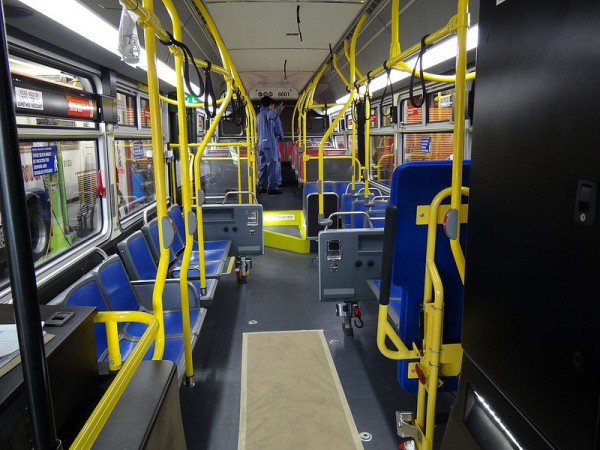 Interior Layout on Muni's new buses.