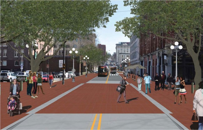 Main Street Transit Priority Mall Concept