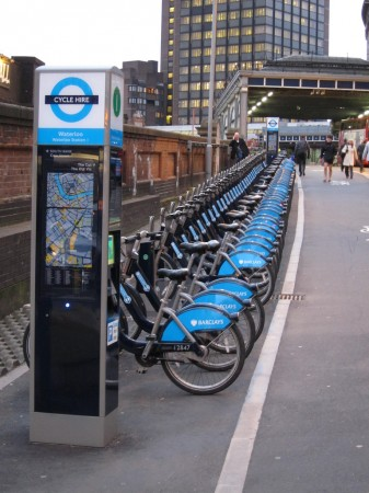 Boris Bikes at Waterloo Station