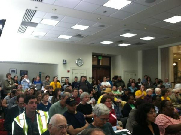 Last Tuesday's hearing at Union Station, photo courtesy Washington Bus.