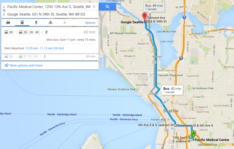 Google Maps Introduces New, Smarter Transit Routing – Seattle