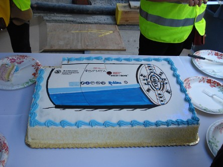 The Central Subway Tunnel Boring Machine cake by Eric Fischer