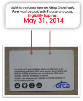 Kitsap Transit Orca Card