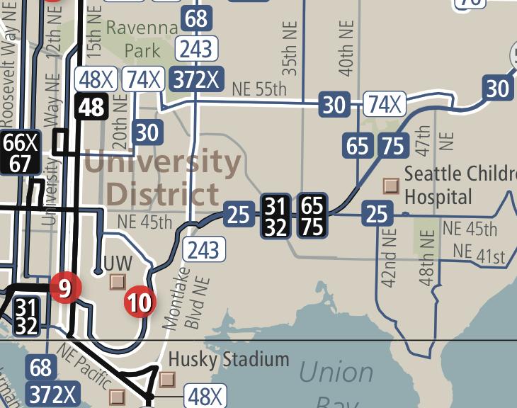 Metro U-District Map
