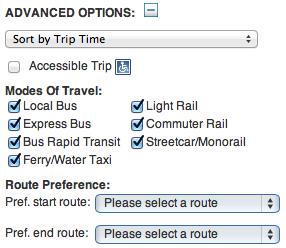Advanced Options tab