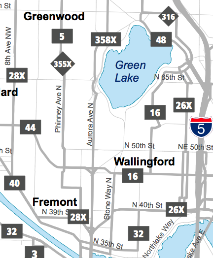 Fremont Wallingford Map