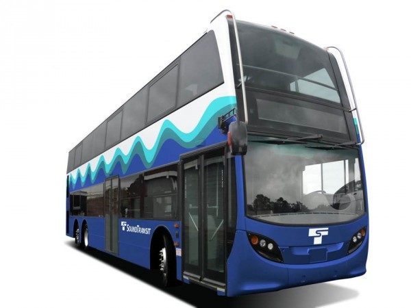 Sound Transit's mock up of double deck bus