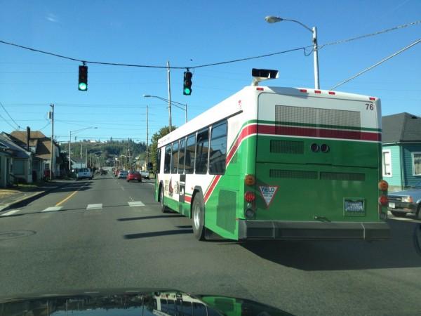 Public transport in Aberdeen, Washington. Flikr user gillfoto.