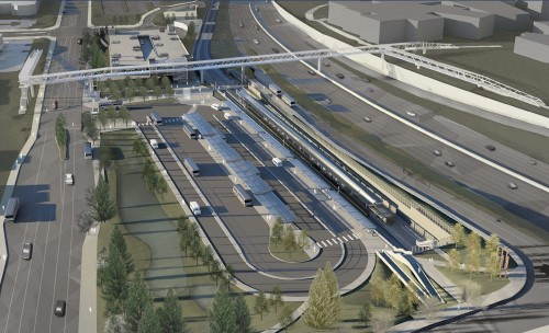 Proposed ped-bike bridge connecting Overlake TC Link Station