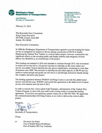 WSDOT SR99 Transit Letter