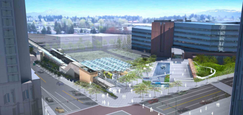 Bellevue Transit Center Station - Aerial View