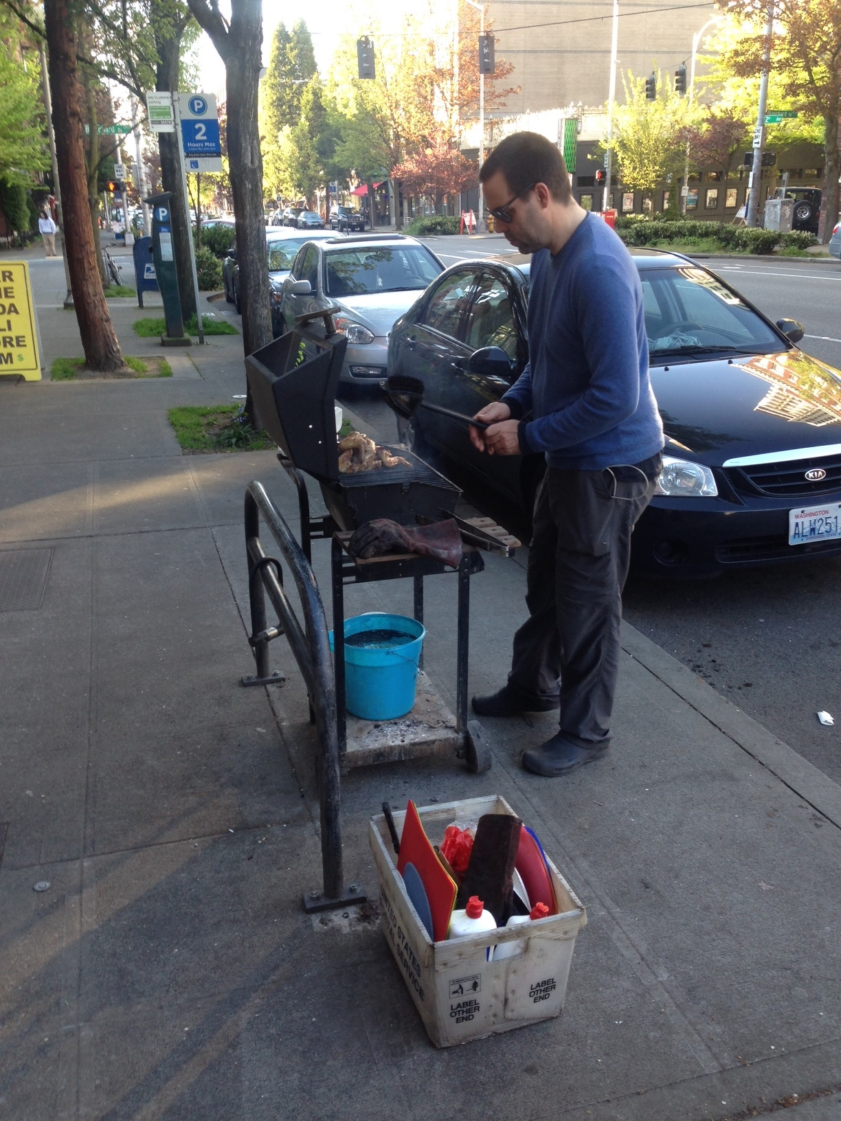 A BBQ on 2nd Ave