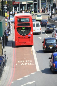 Red Bus Lanes Euston Road