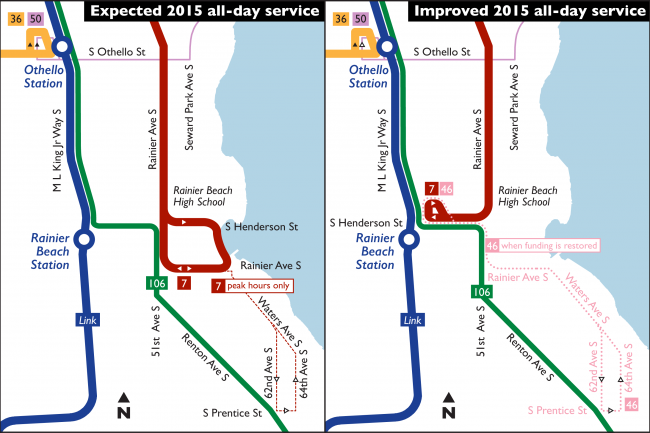 Map of Rainier Beach 7 Extension to Link