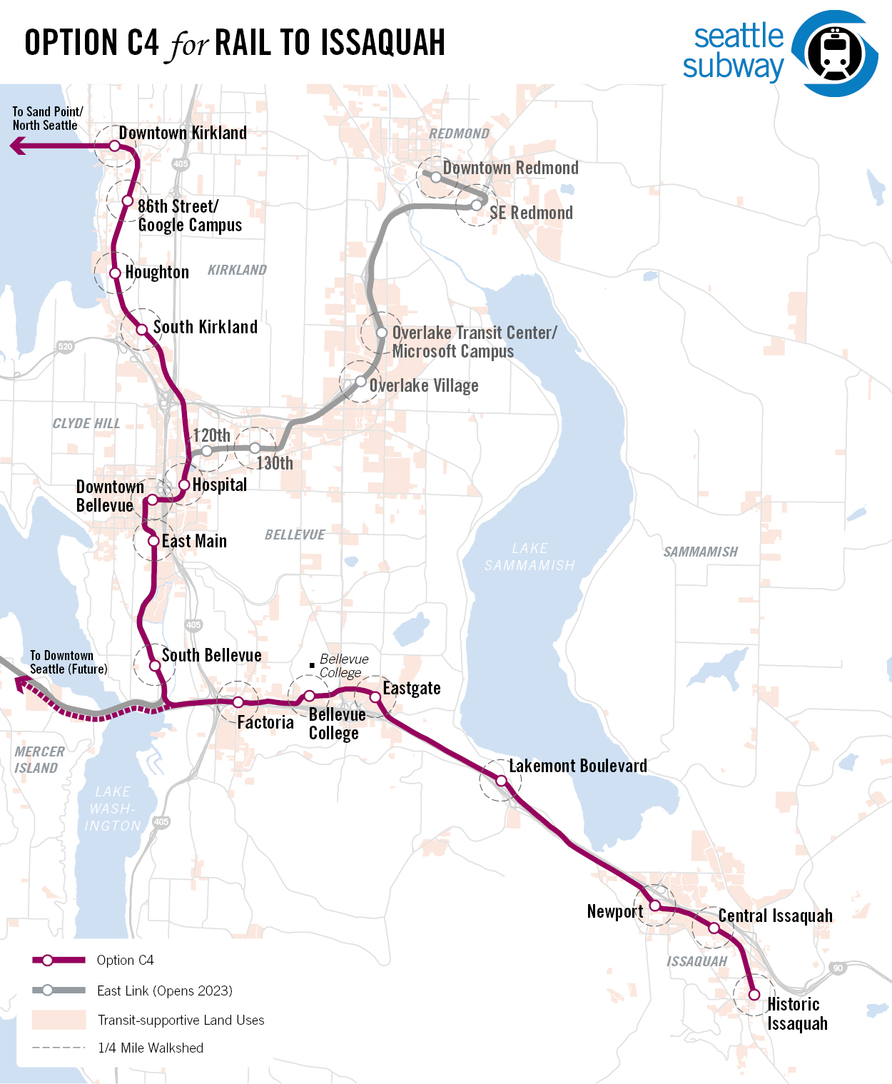 Issaquah Rail Map