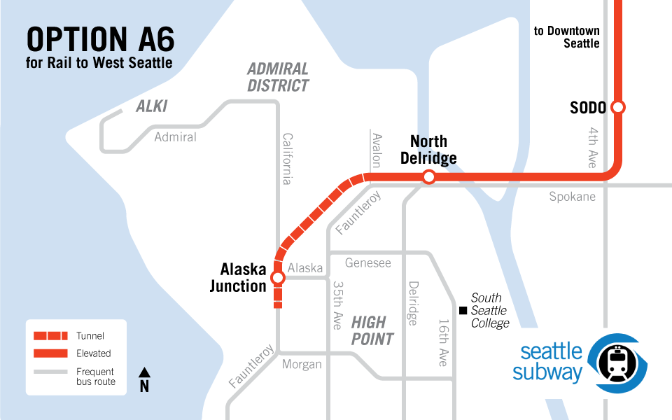 Light Rail Seattle Map Stops.Light Rail Is Best For West Seattle